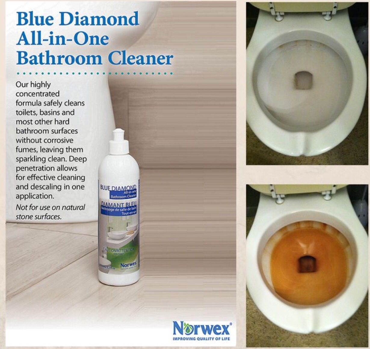 All in one bathroom - Norwex Blue Diamond Cleaner Vs Rust Before And After Norwex