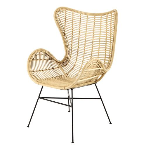 fauteuil en rotin kawa maisons du monde