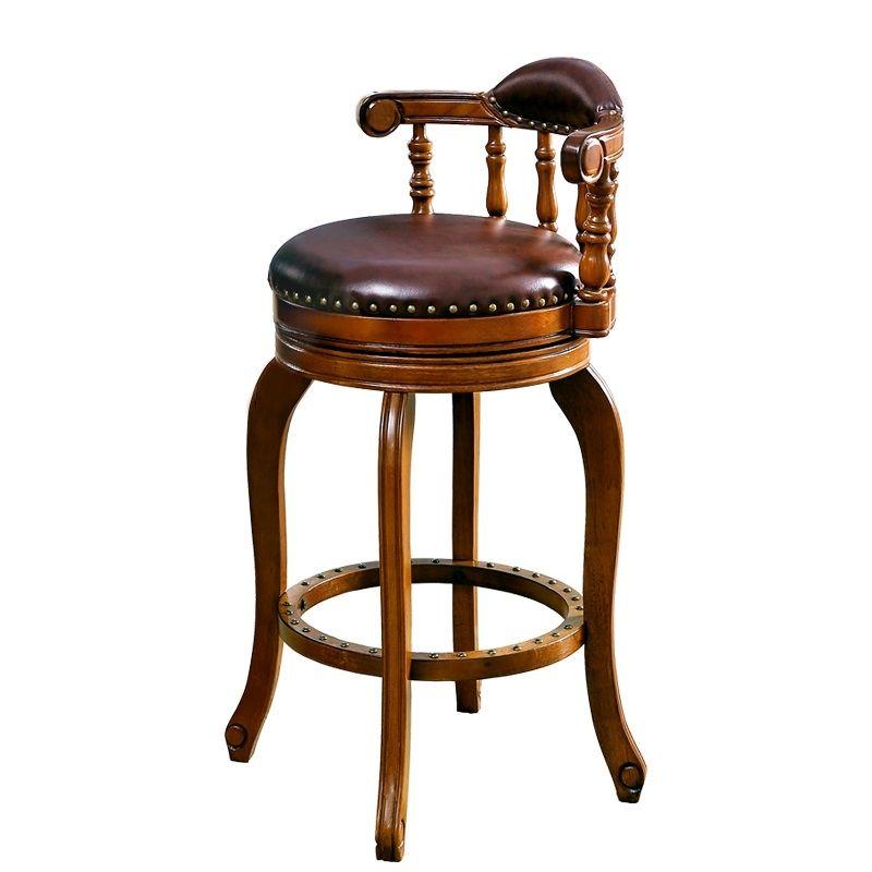 European Style Bar Chair Modern Simple Leather Home American High Stool