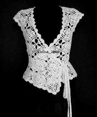 Wrap around top. DE MIS MANOS TEJIDOS Y MAS...: Tejidos a Crochet