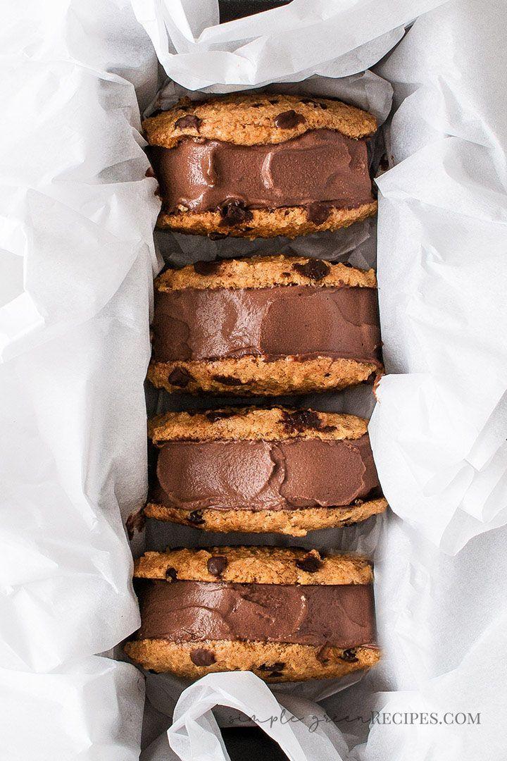 Vegan Chocolate Ice Cream Sandwiches