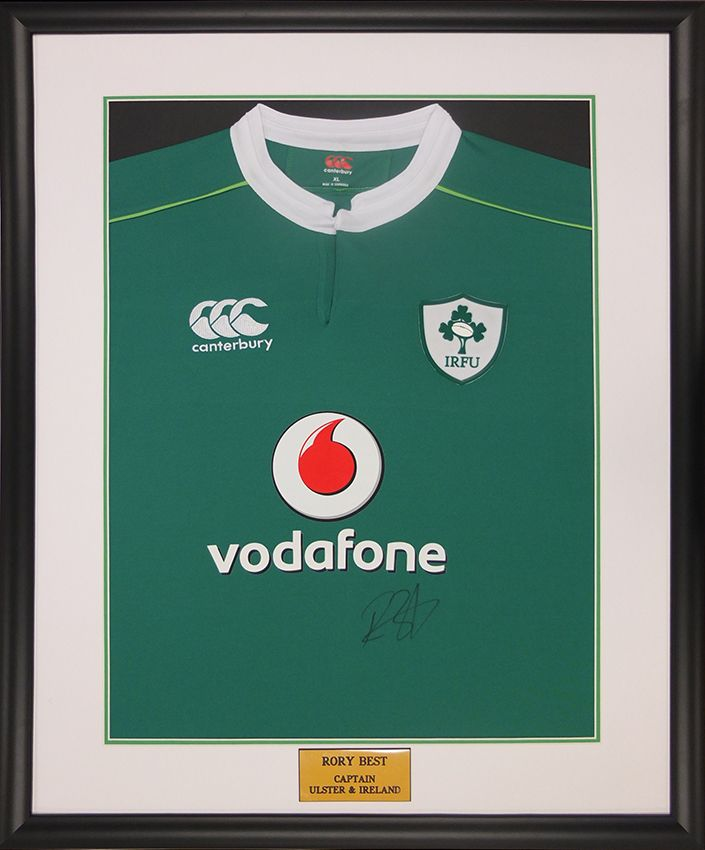 bc94a827f05 Irish Rugby Shirt framed by English Framing Co Dewsbury - Love it, Frame it
