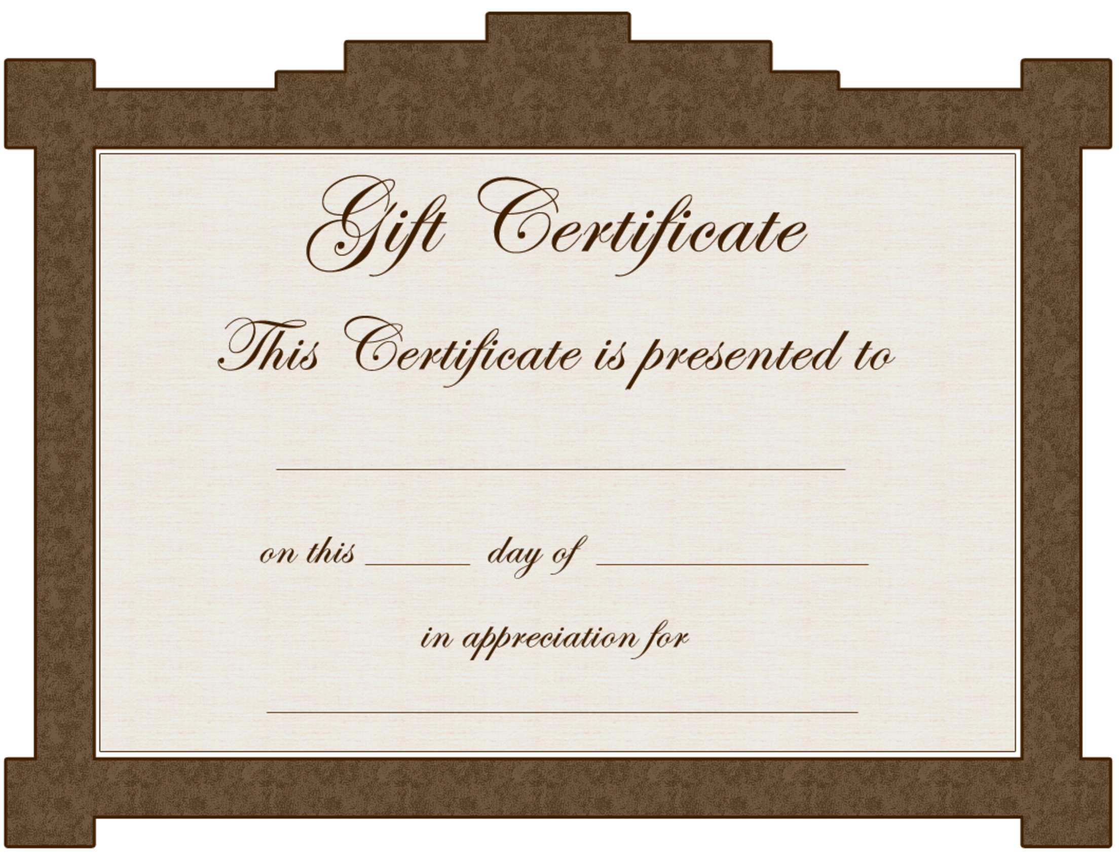 Gift Certificate Templates To Print Gift Cards Template