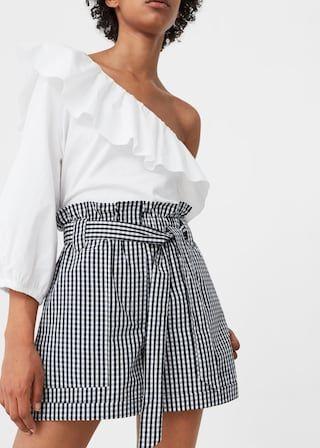 Geruite Korte Broek Dames.Shorts Met Vichyruit Dames In 2019 Clothing Korte Broek