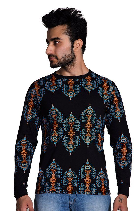 6a93ecdfc7af Long Sleeve T-shirt - Festival clothing -Psychedelic Clothing - Fractals T  shirt -Geometric print-r