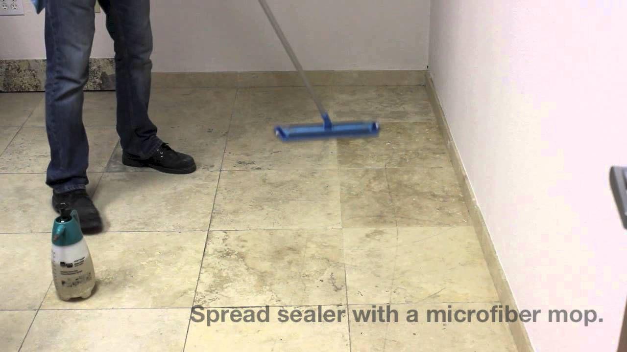 How To Seal Travertine Floors With Stone Pro Porous Pro