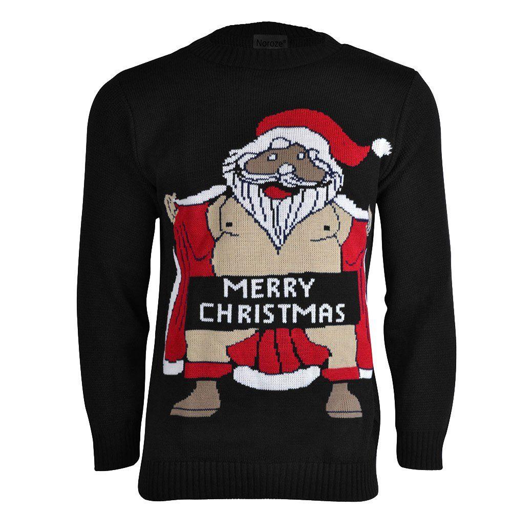 New Mens Christmas Xmas Jumper Sweater Novelty Jumpers Ugly Pullover Santa Funny