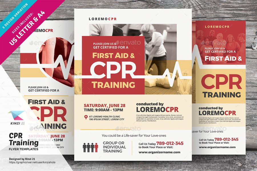 Cpr Training Flyer Templates Cpr Training Flyer Template Flyer