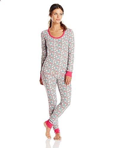 c2f23b97c2 St. Eve Women s Thermal Pajama Two-Piece Set (Vintage Snowflakes)  sexy   lounge  pjs  sleepwear
