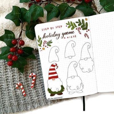25+ Christmas Bullet Journal Ideas For December 2020