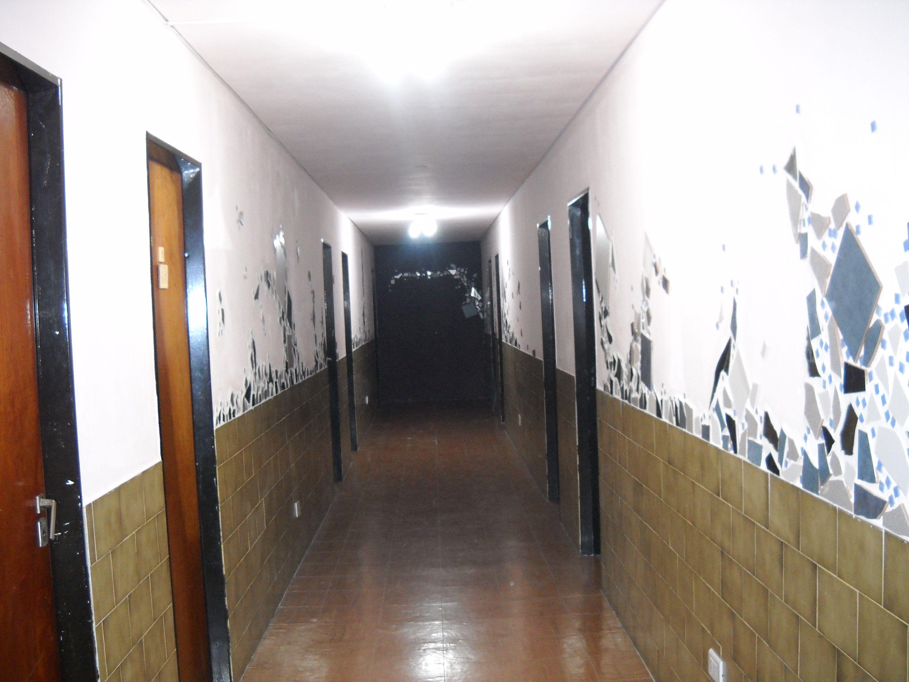 pasillo decorado