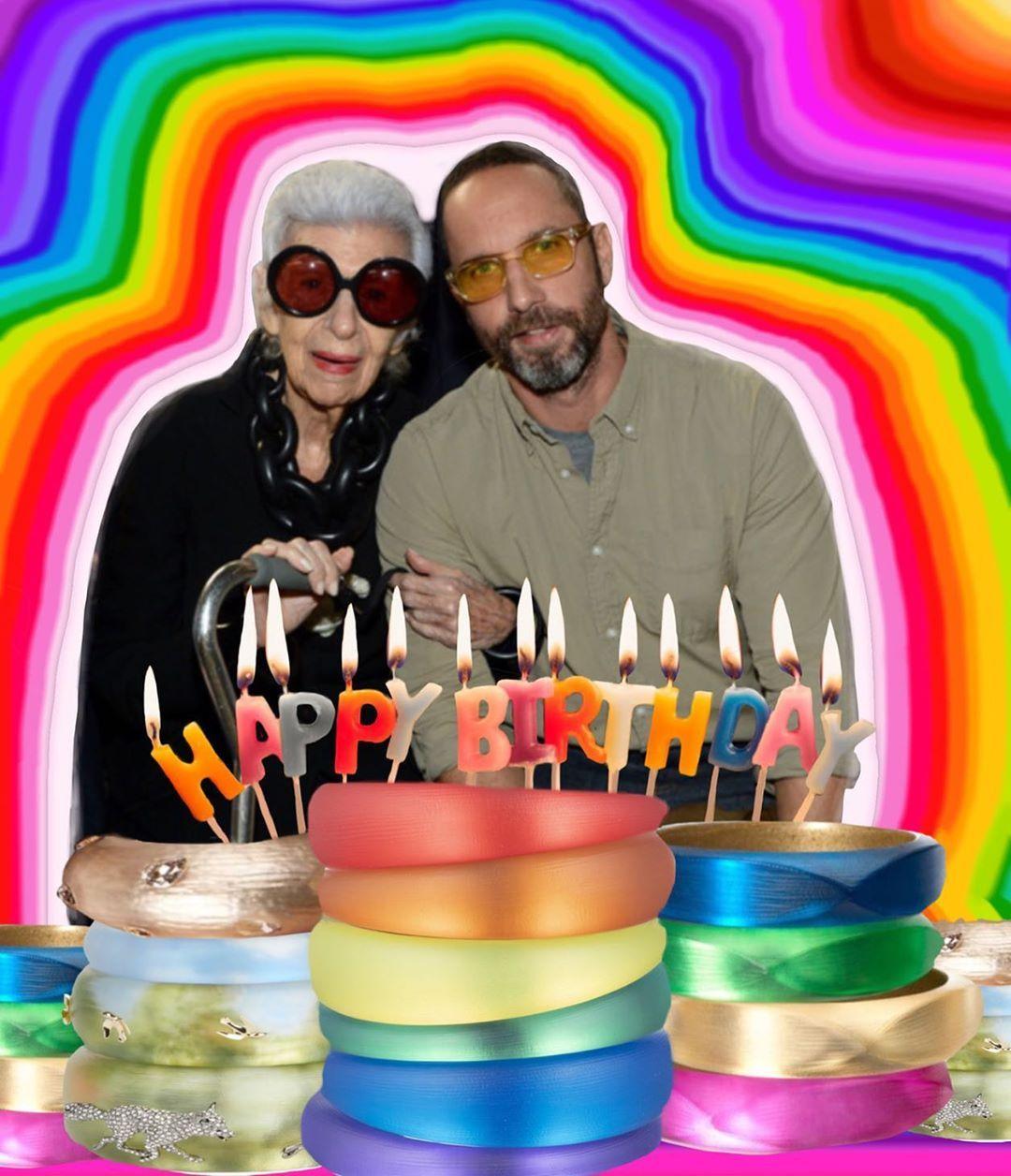 Iris The Coloring Book On Instagram Happy Birthday To Jewelry Designer Dear Friend Of Iris Apfel And Ut In Nyc Coloring Books Happy Birthday Dear Friend