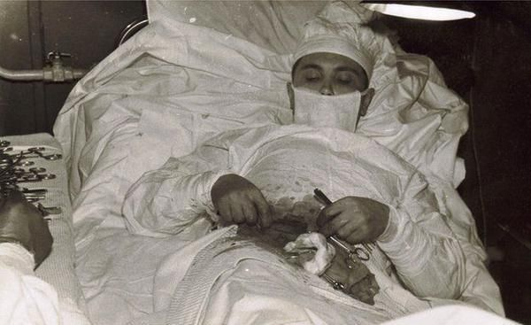 Surgeon Leonid Rogozov removed his own appendix while stranded in Antarctica in 1961