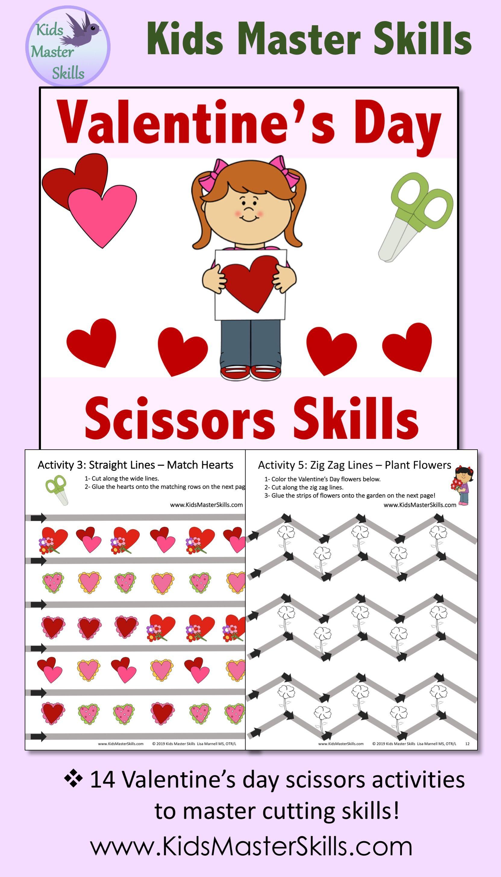 Valentine S Day Scissors Skills Activities