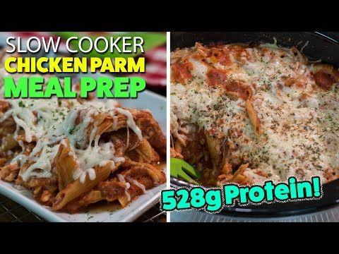 Use GF pasta for Ciarra-Easy SLOW COOKER Chicken Parmesan Meal Prep Recipe - YouTube