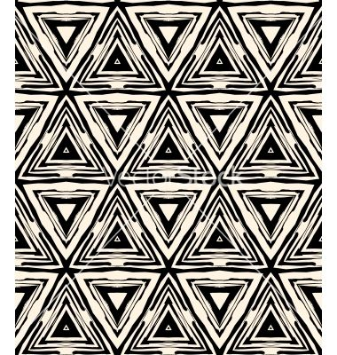 1930s Art Deco Geometric Pattern With Triangles Vector By Tukkki