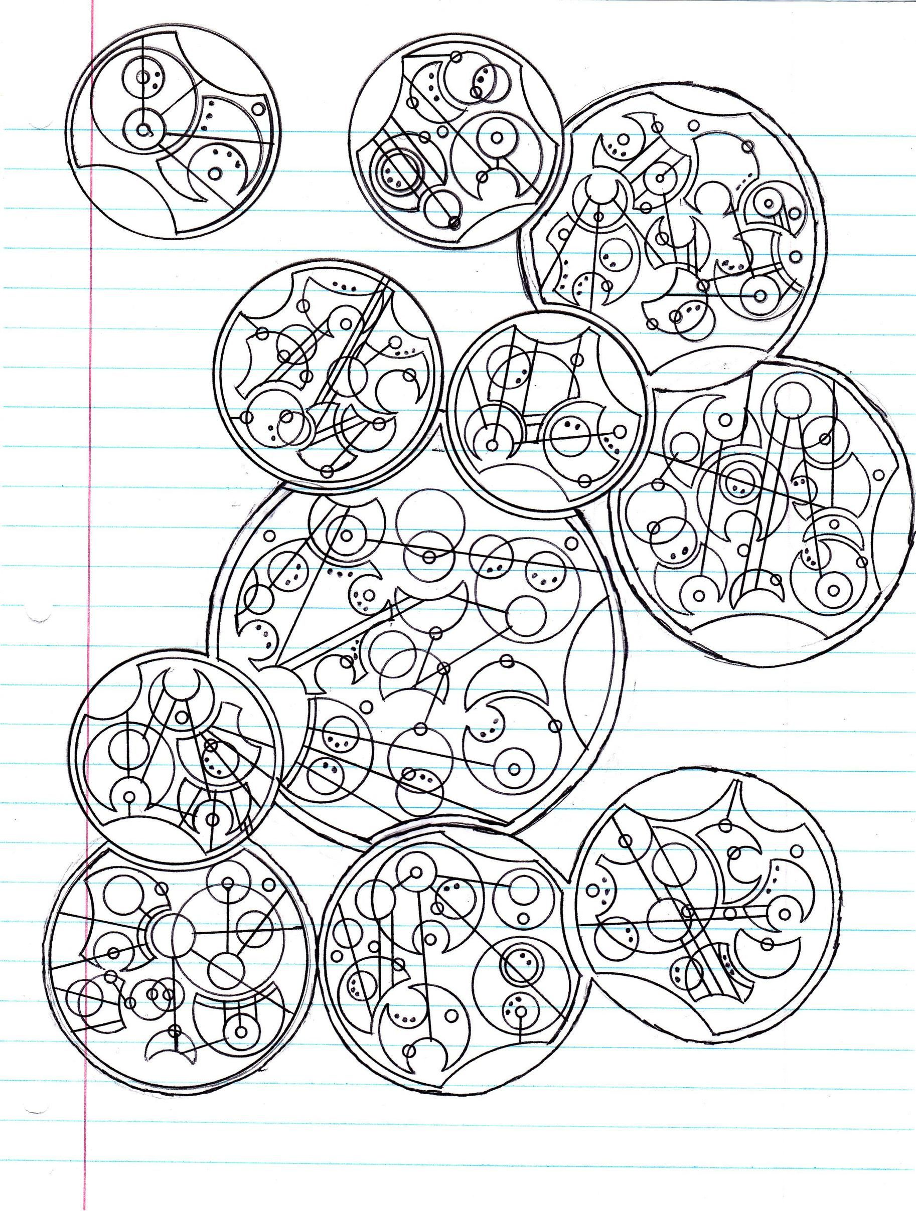 A Gallifreyan Message I Made For Friend In The Navy