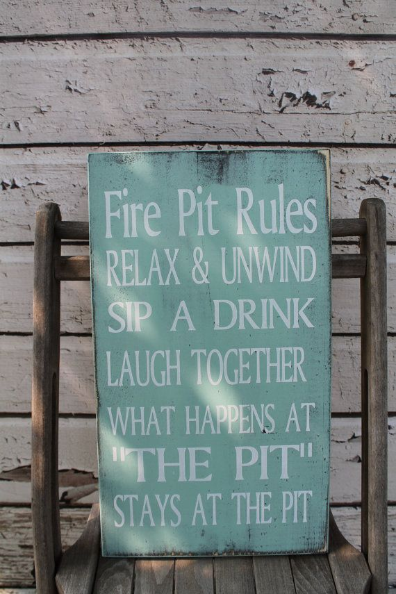 Custom Fire Pit Rules Sign Campfire Rules Sign Backyard