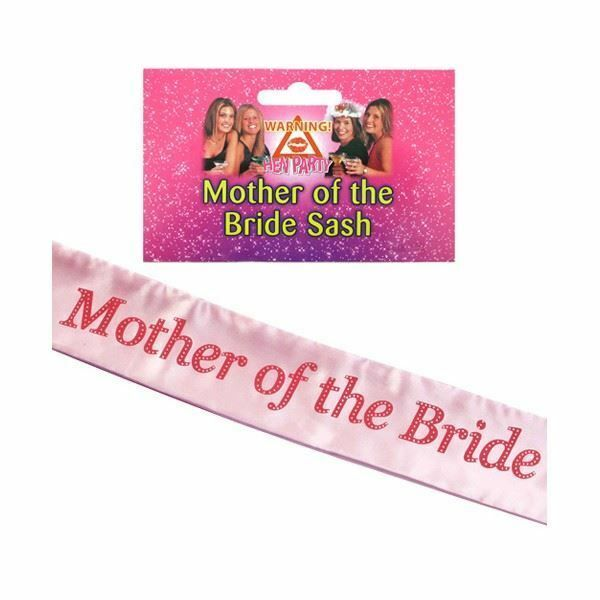 Shatchi MOTHER OF THE BRIDE Sash Pink-Pink Hen Party Wedding Fancy Accessory