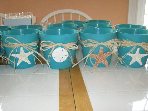 Tropical Beach Star Fish U0026 Sand Dollar Flower Pots And Table Decorations.  $12.00, Via
