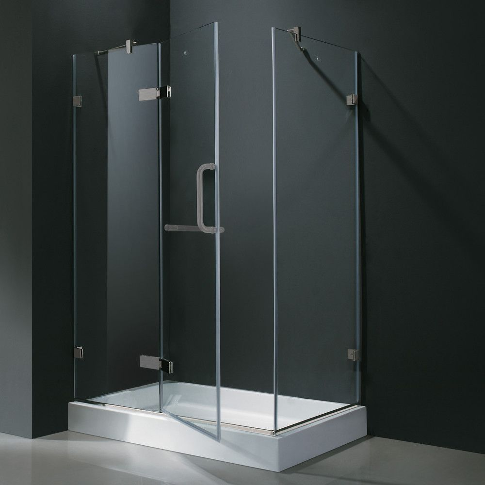 Monteray 40 25 X 79 25 Rectangle Hinged Monteray Enclosure With Base Included In 2020 Frameless Shower Enclosures Glass Shower Enclosures Glass Shower