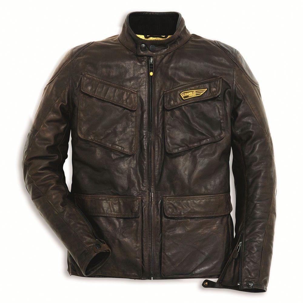Mens Brown Vintage Leather Motorbike Jacket Xs To 6xl For Du Cati Scrambler Handmade Bikerjackets Leatherjac Leather Jacket Leather Jacket Men Ducati Jacket