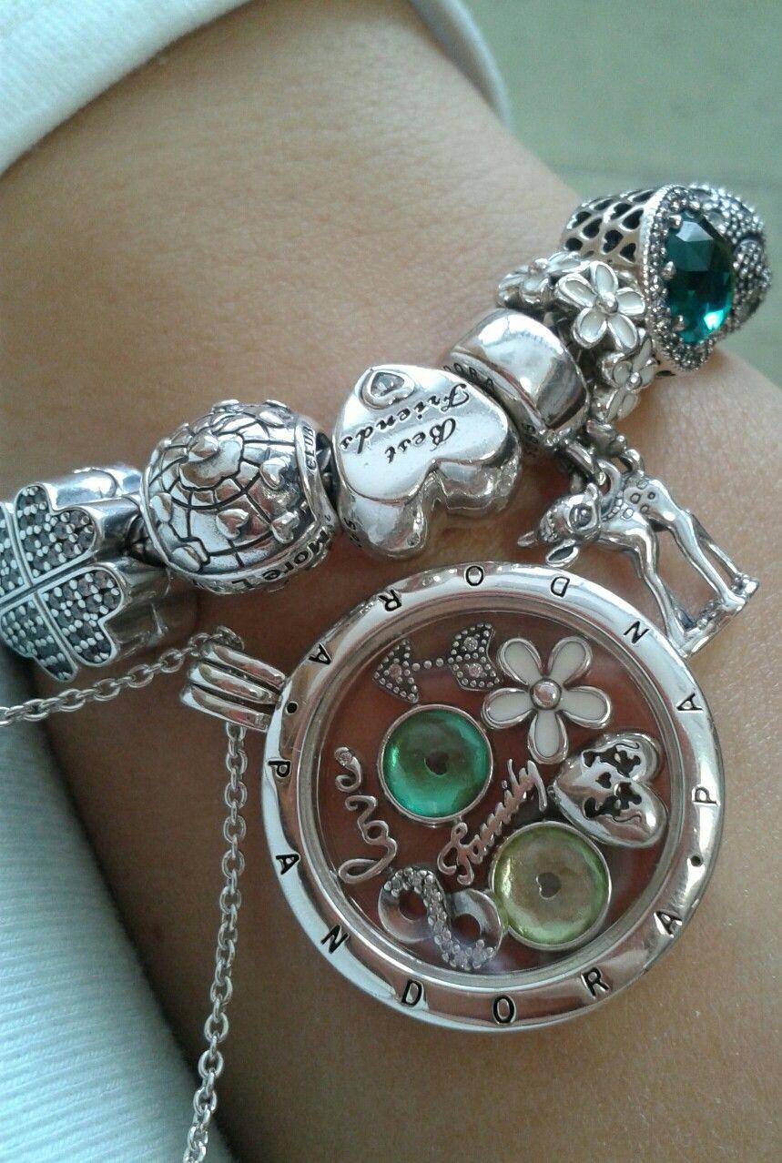 Pandora Floating locket green | Pandora bracelet charms ...