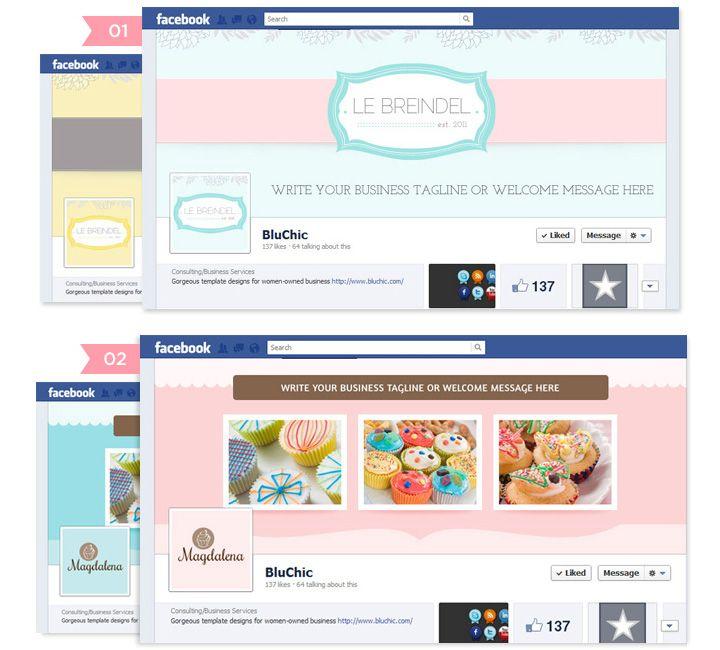 cute fb_timeline_magdalena_lebreindel Social Media Design
