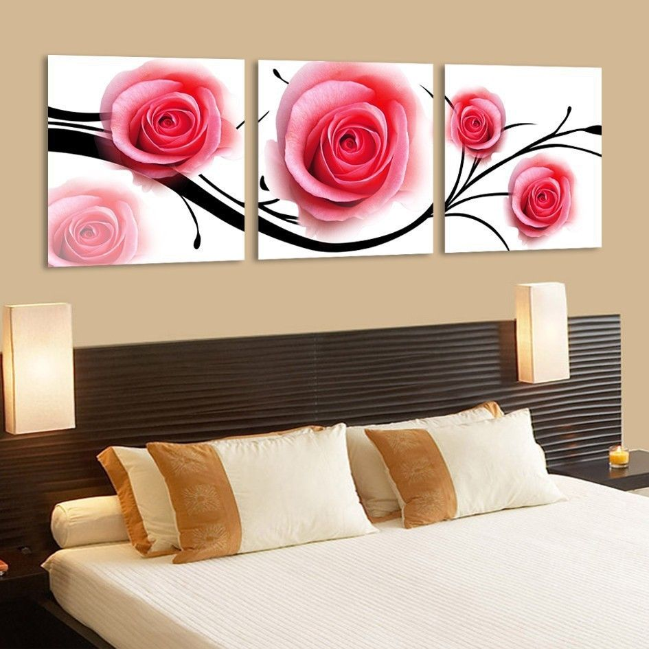 Free shipping modern canvas wall art pink rose flower 3 piece canvas wall art oil art paintings painting for bedroom home decor - http://www.aliexpress.com/item/Free-shipping-modern-canvas-wall-art-pink-rose-flower-3-piece-canvas-wall-art-oil-art-paintings-painting-for-bedroom-home-decor/1868597414.html