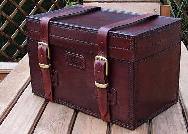 Nigel Armitage Leather Chest 2 | Leather, Leather box