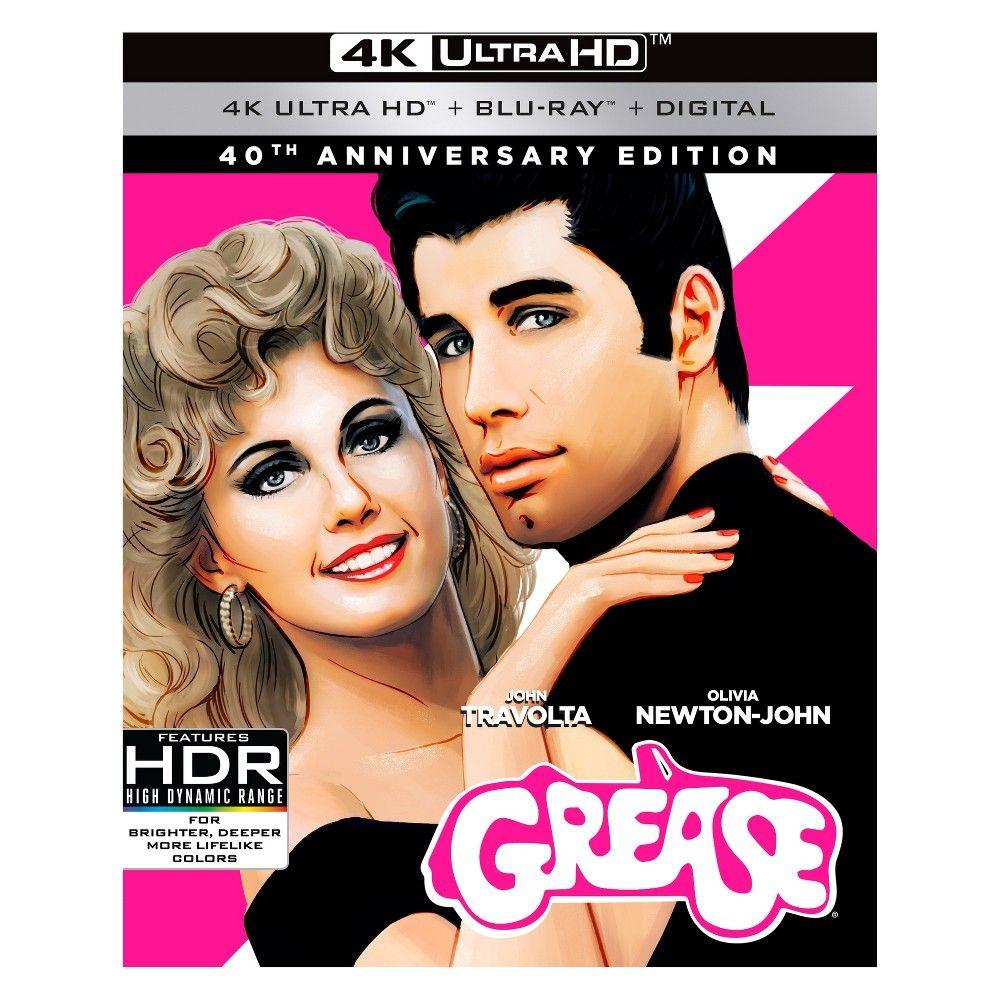 Grease 40th Anniversary 4k Uhd Bd Digital Copy Dvd