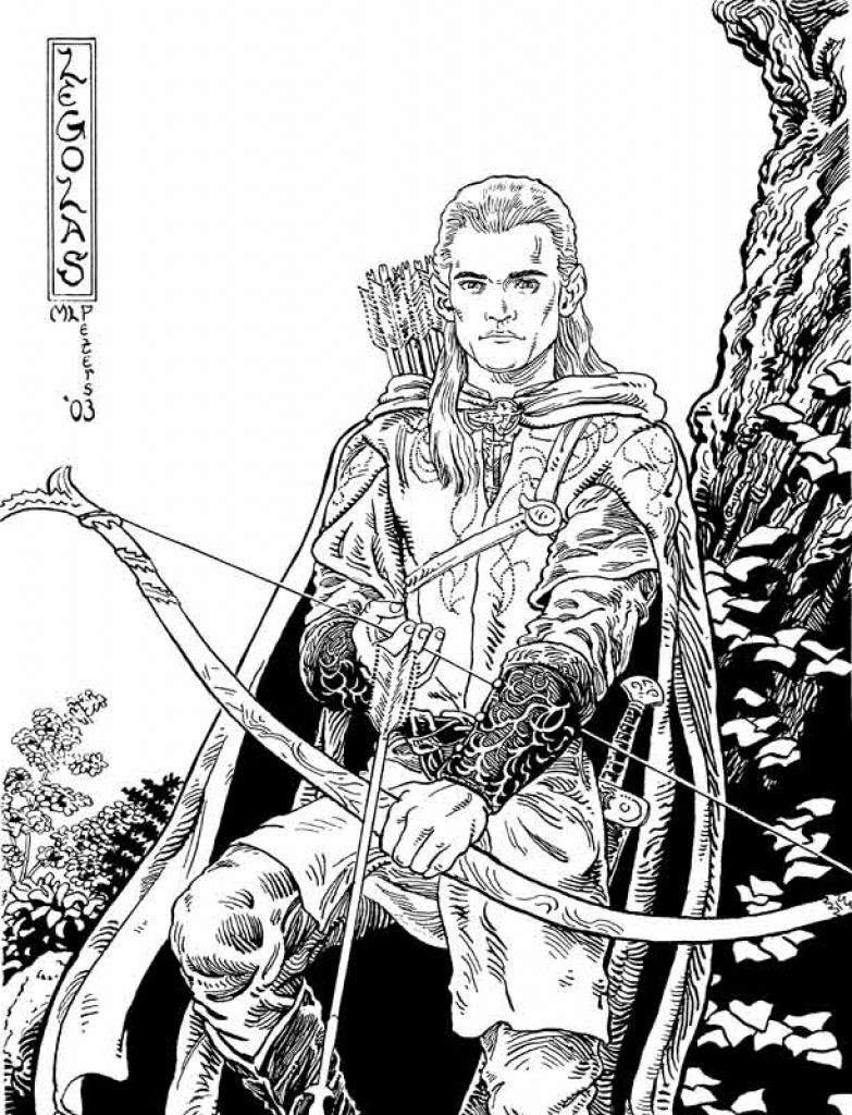 Male Elf Coloring Page
