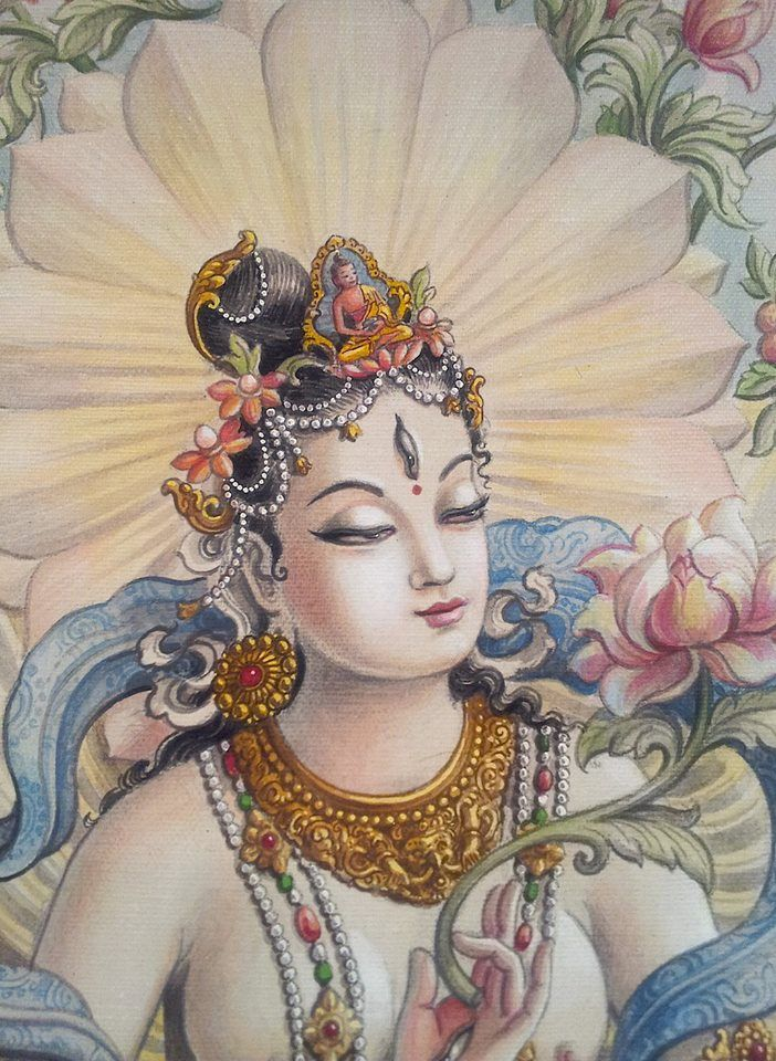 White Tara Modern Newari Painting