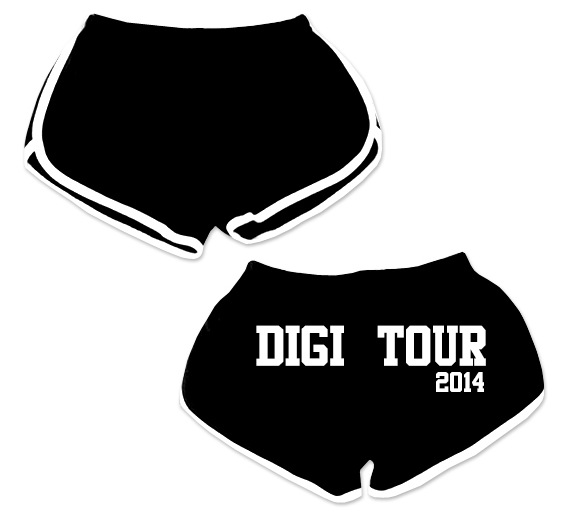 DigiTour 2014 - Official Booty Shorts. need to find my pair