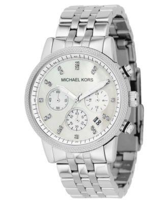0ee23d561fe Michael Kors Women s Chronograph Runway Stainless Steel Bracelet Watch 38mm  MK5076 - Watches - Jewelry   Watches - Macy s