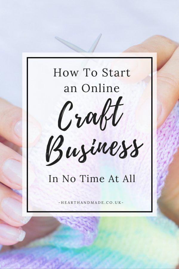 how to start an online craft business in under 15 mins pinterest