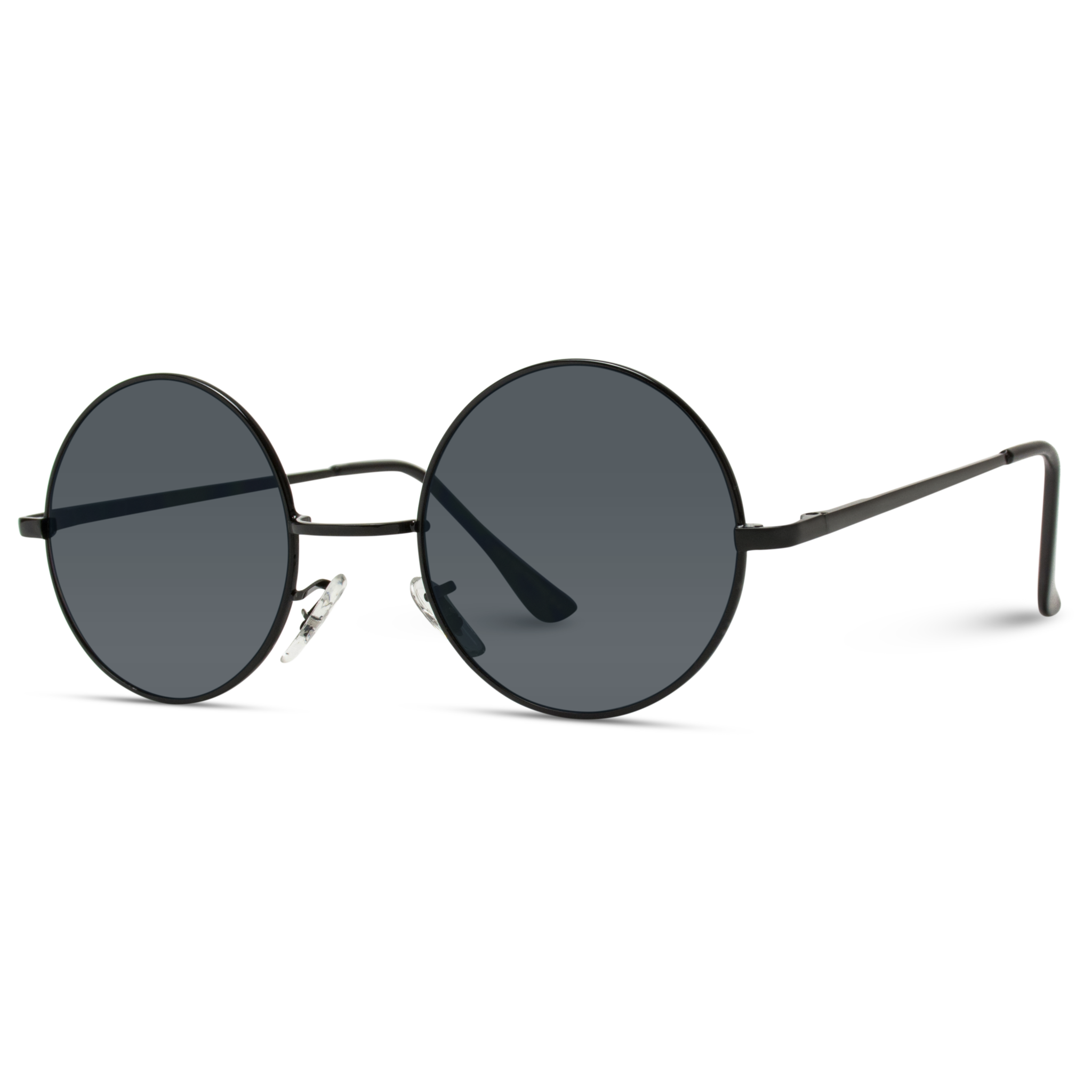 ef92bab268a Retro Round Metal Hippie Sunglasses - John Lennon Inspired Sunglasses.  Classic pair of small round