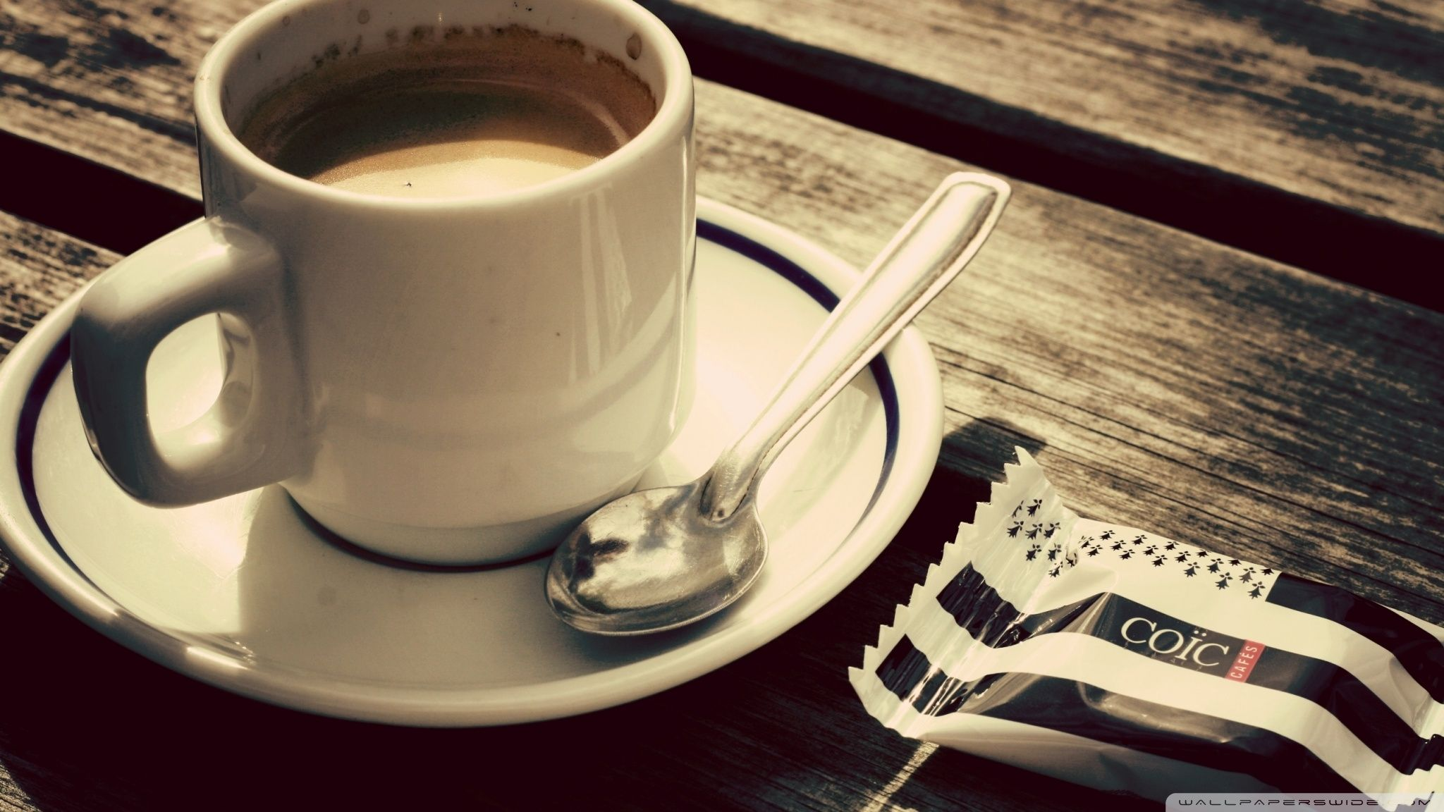 Biscuit And Coffee Cup HD desktop wallpaper High
