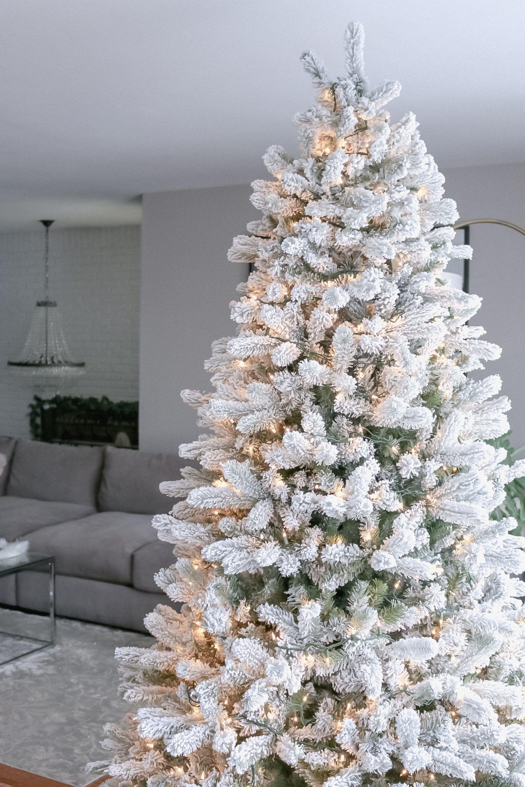 28+ Fake flocked christmas tree inspirations