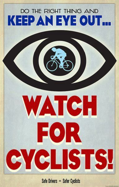 Watch for cyclists.