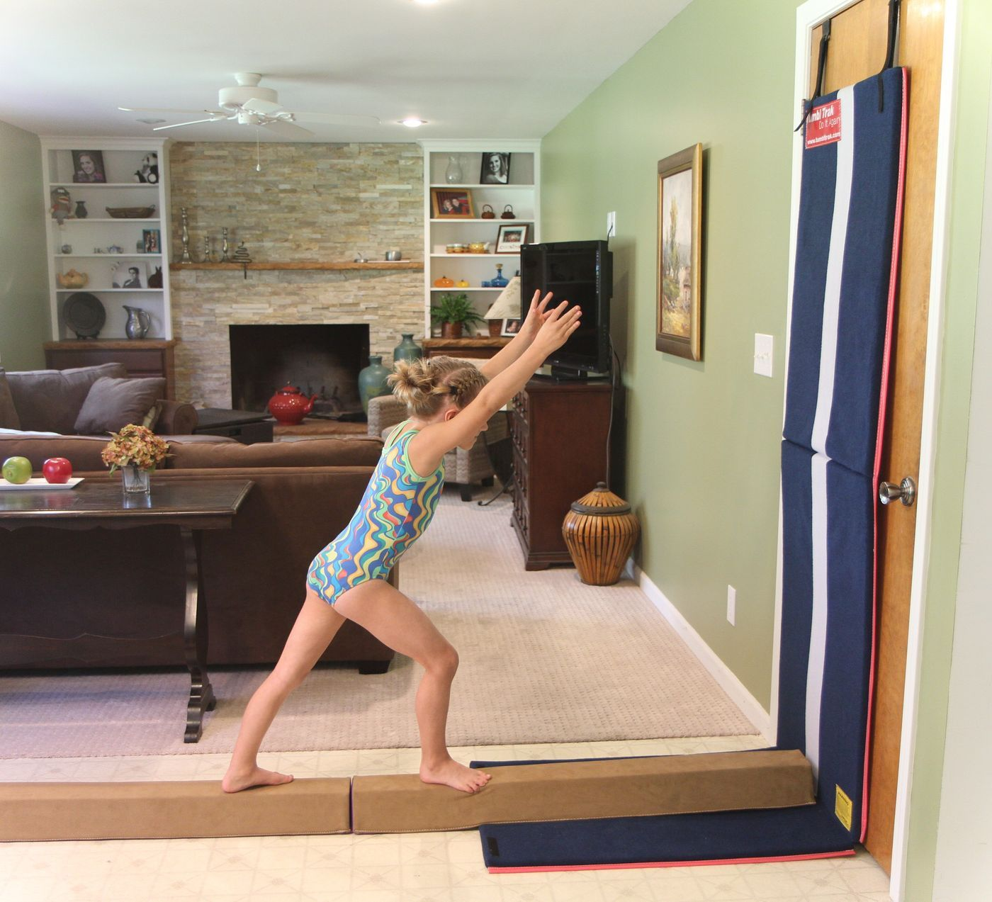 Handstand Homework tumbling gymnastics bars beginner mat