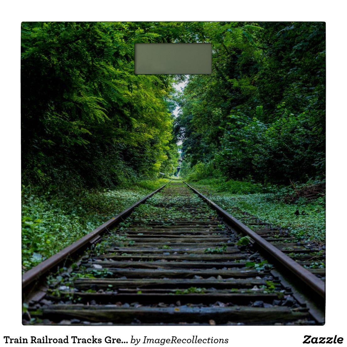 Train Railroad Tracks Green Woods Bathroom Scale | Zazzle.com