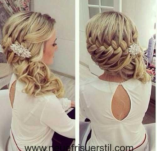 Hubsche Frisur Ideen Fur Hochzeit Hochzeit Hair Styles Prom