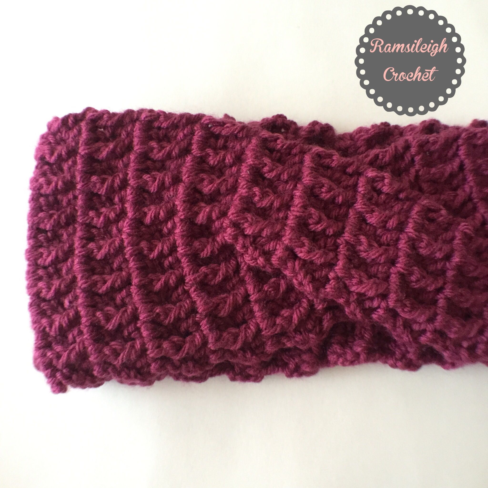 Free twisted headband crochet pattern by RamsiLeigh Crochet | deb ...