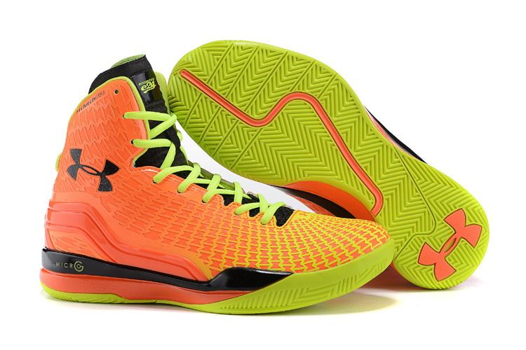 Under Armour Stephen Curry 2 Shoes Orange Green on www.uacurryshoe.com