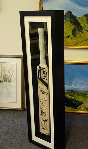 Unusual Framing Requests 2 Signed Cricket Bat Framed By Www Pgframing