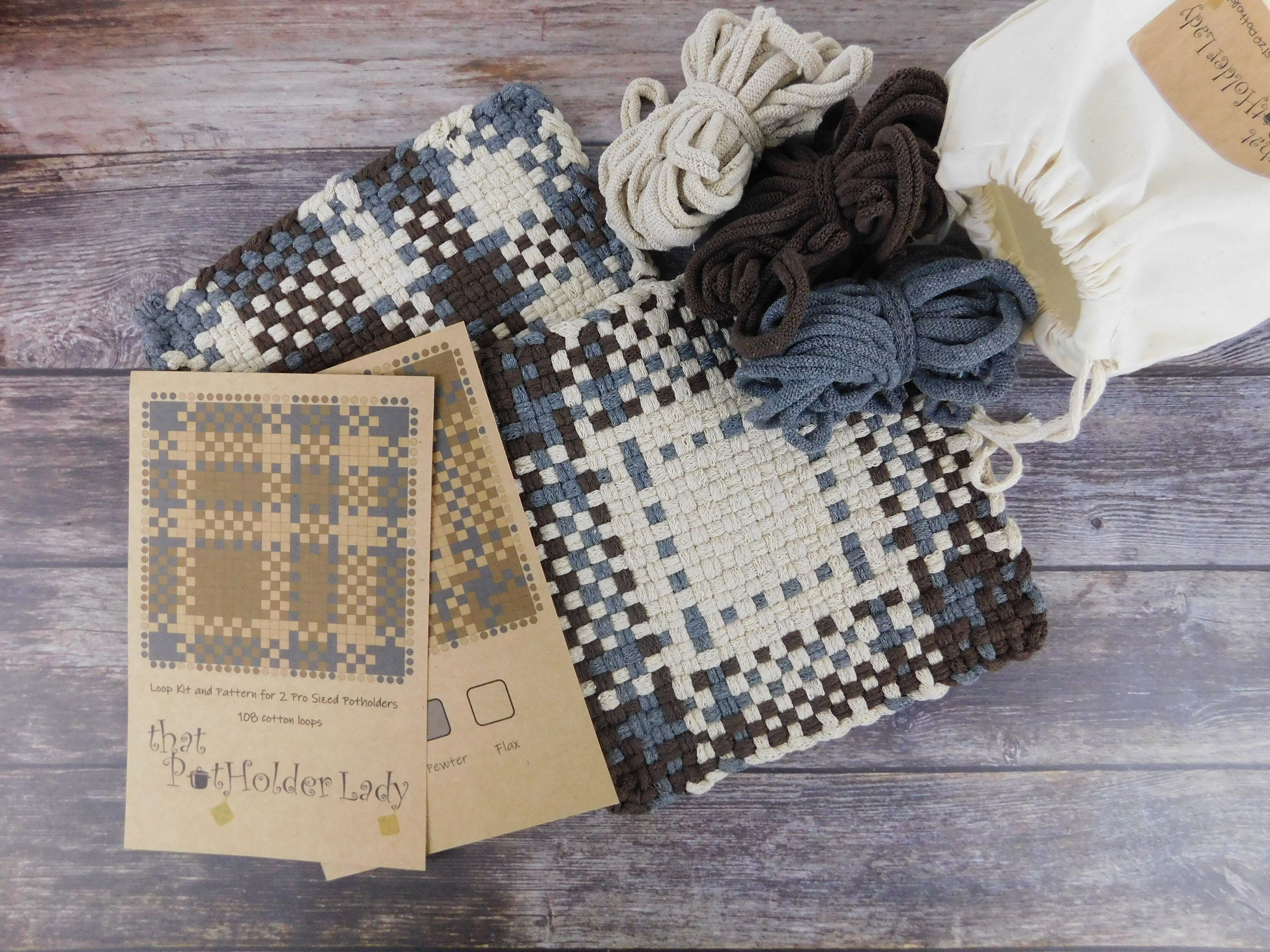 Your Place To Buy And Sell All Things Handmade Potholders Excited To Share The Latest Addition To My Etsy Shop In 2020 Potholder Loom Potholder Patterns Craft Kits