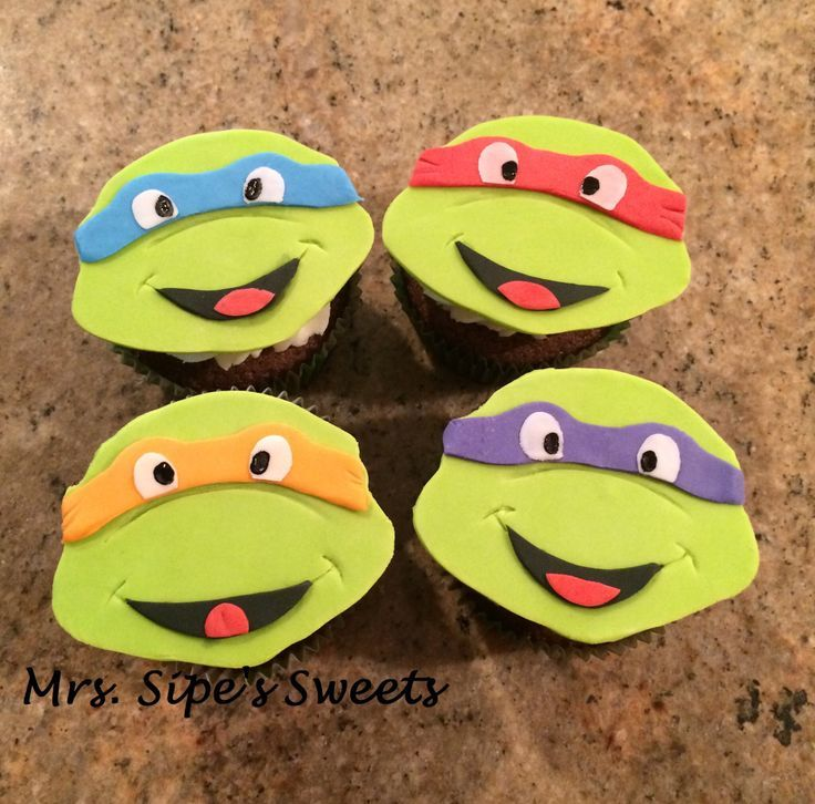Ninja Turtle Baby Shower Cakes Ninja Turtle Baby Shower Cupcakes