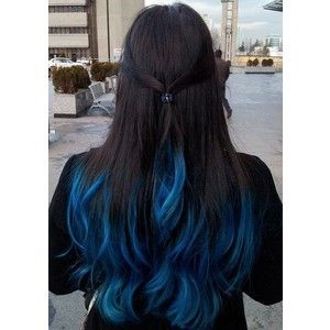 Blue Hair Highlights Vip Hairstyles In 2019 Dyed Hair