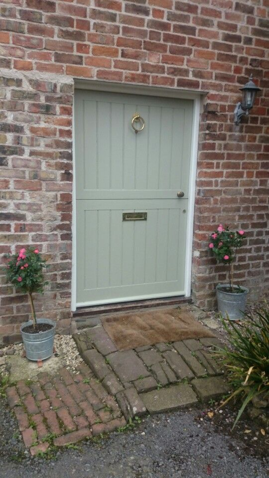Farrow and ball french grey stable door, country cottage, roses